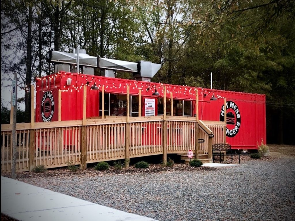 commercial shipping container kitchen
